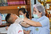พฤติกรรมการดูแลสุขภาพช่องปากเด็ก ของผู้เลี้ยงเด็ก ตำบลกุดน้ำใส