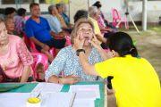 พฤติกรรมการดูแลสุขภาพช่องปากผู้ป่วยเบาหวาน คลินิกโรคเรื้อรังฯตำบลบ้านขาม